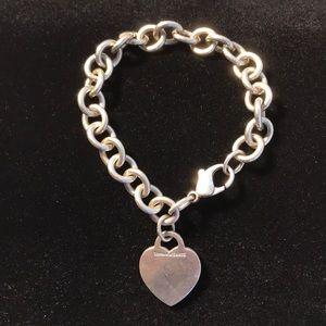 VTG Tiffany & Co .925 SS Heart Bracelet